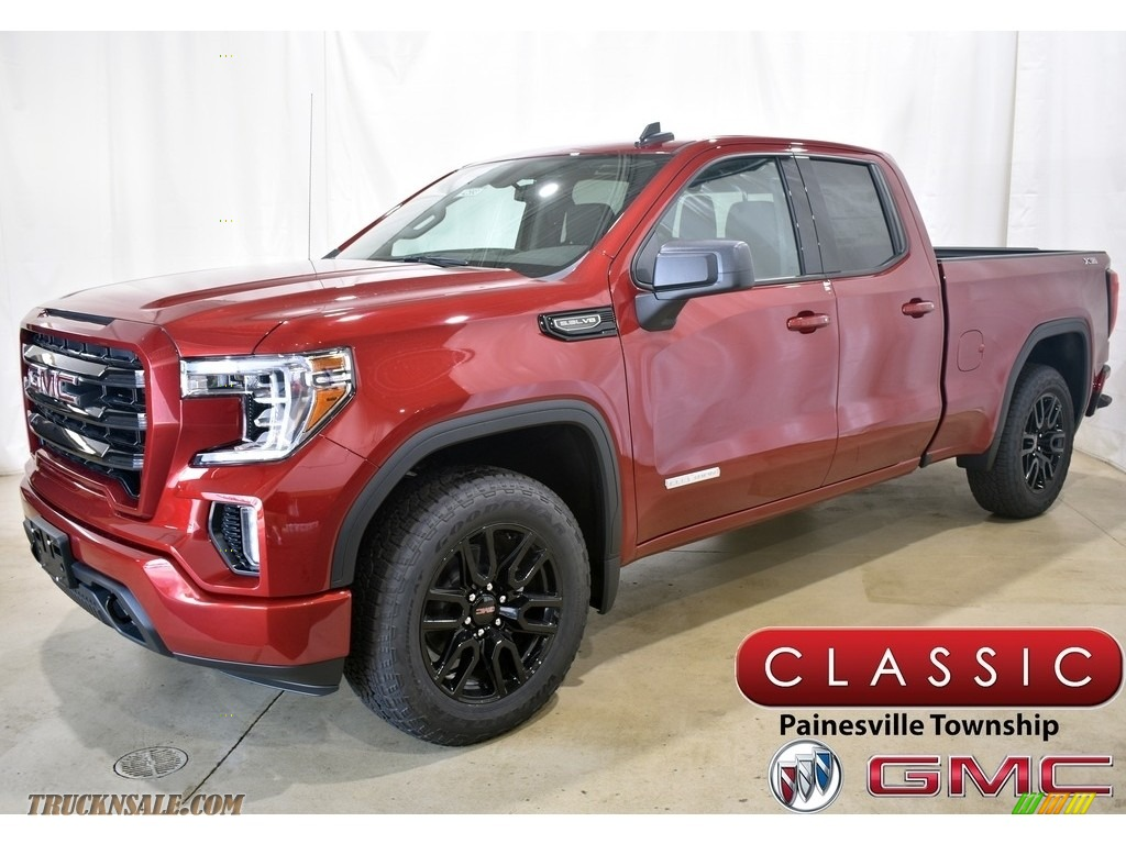 Red Quartz Tintcoat / Jet Black GMC Sierra 1500 Elevation Double Cab 4WD