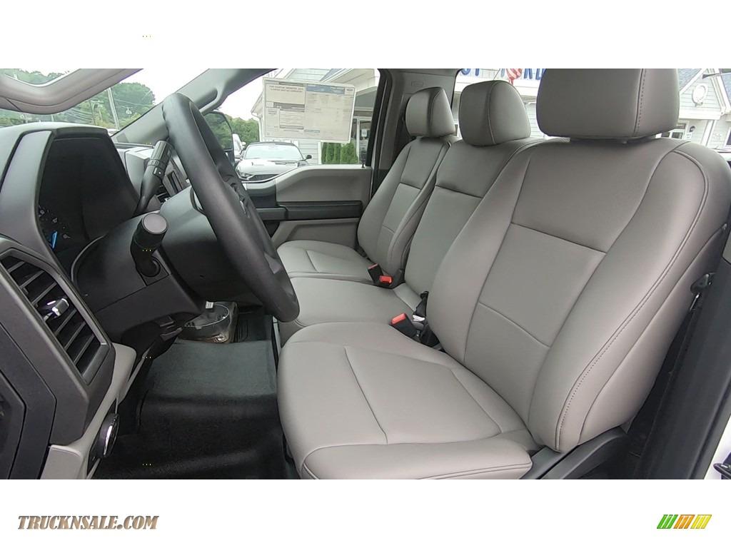 2020 F250 Super Duty XL Regular Cab 4x4 - Oxford White / Medium Earth Gray photo #11