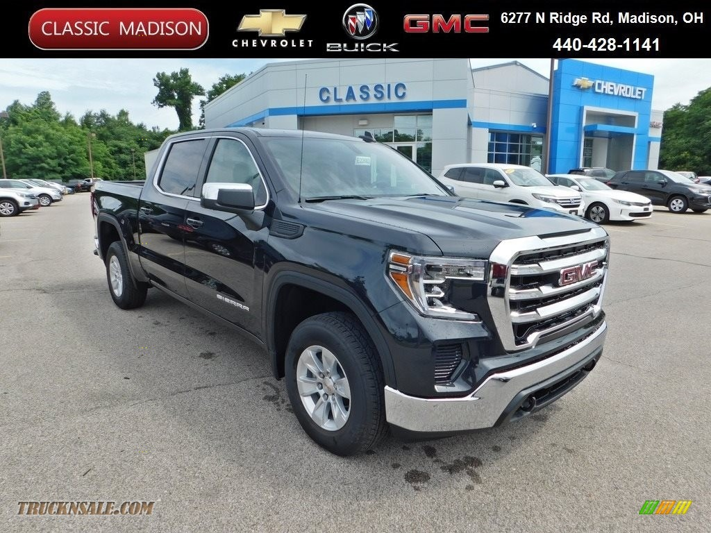 2020 Sierra 1500 SLE Crew Cab 4WD - Carbon Black Metallic / Jet Black photo #1