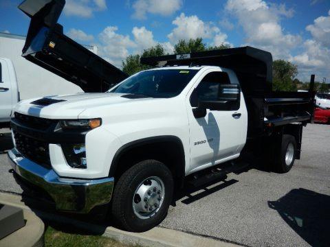 Summit White 2020 Chevrolet Silverado 3500HD Work Truck Crew Cab 4x4 Dump Truck