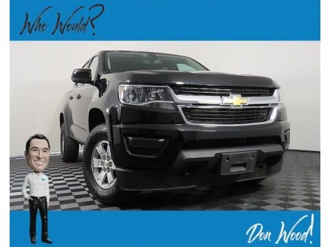 Black 2018 Chevrolet Colorado WT Crew Cab 4x4