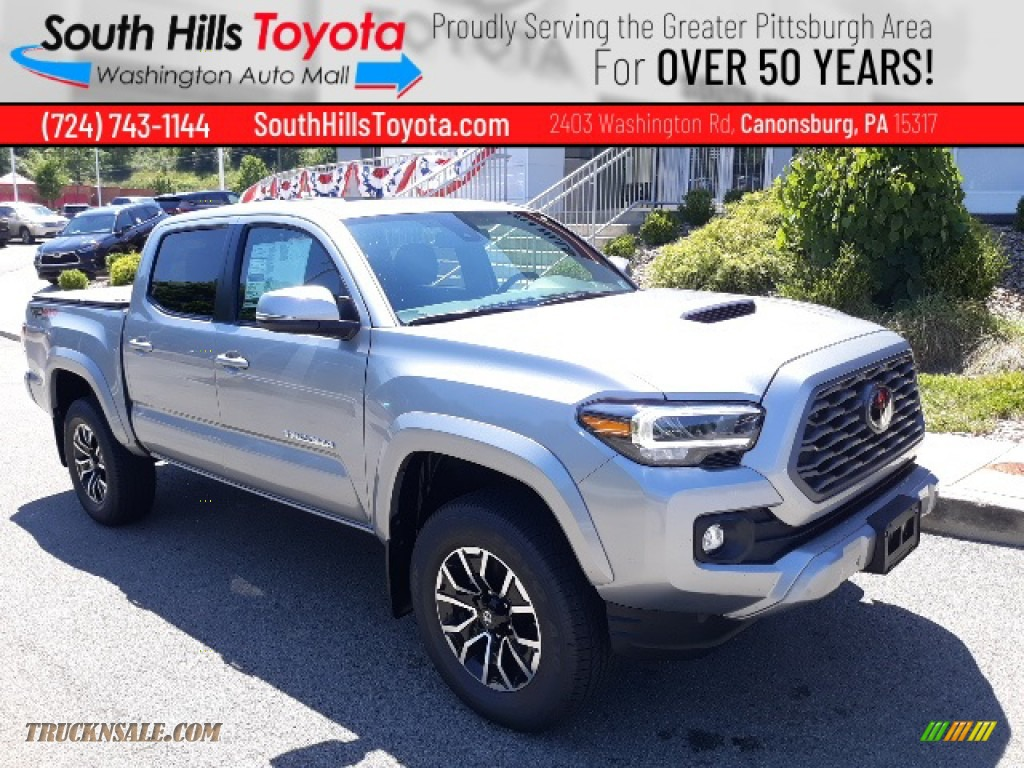 2020 Tacoma TRD Sport Double Cab 4x4 - Silver Sky Metallic / TRD Cement/Black photo #1