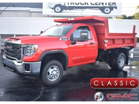 Cardinal Red 2020 GMC Sierra 3500HD Crew Cab 4WD Chassis Dump Truck