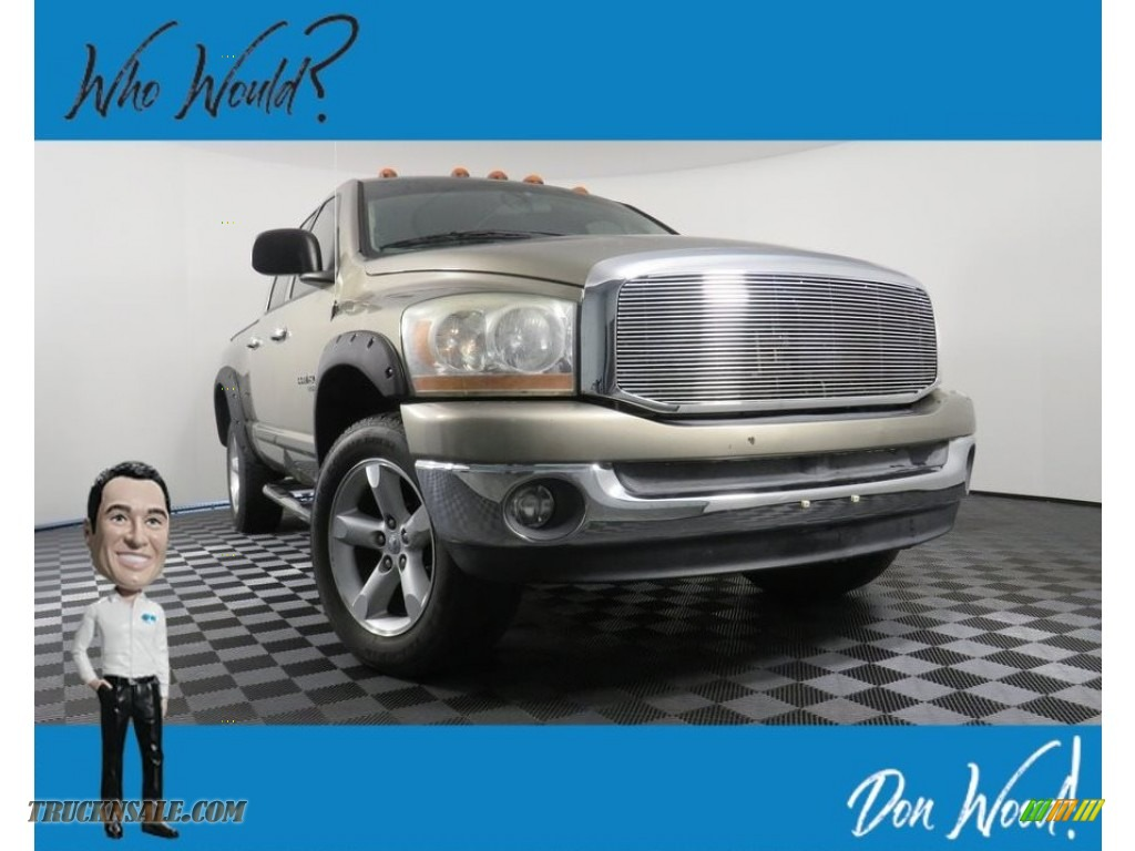 2006 Ram 1500 Big Horn Edition Quad Cab 4x4 - Light Khaki Metallic / Khaki Beige photo #1