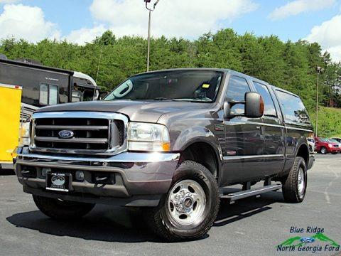 Dark Shadow Grey Metallic 2004 Ford F250 Super Duty Lariat Crew Cab 4x4