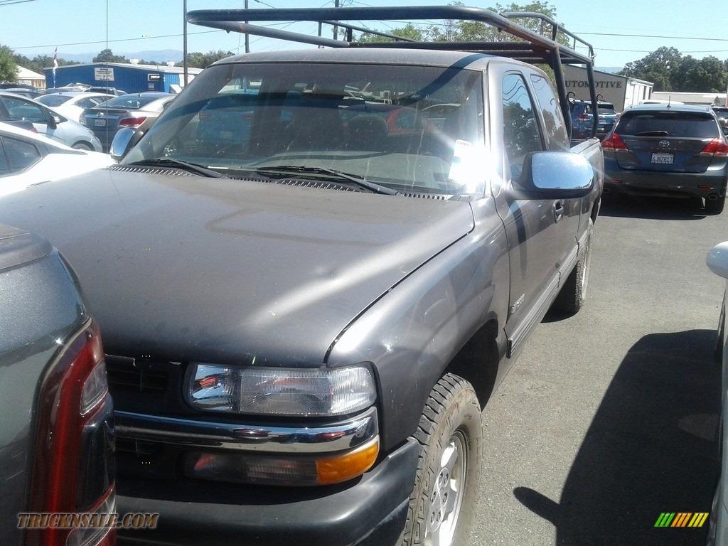 1999 Silverado 1500 LT Extended Cab 4x4 - Light Pewter Metallic / Graphite photo #1