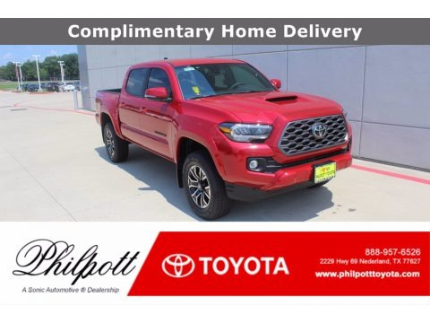Barcelona Red Metallic 2020 Toyota Tacoma TRD Sport Double Cab 4x4