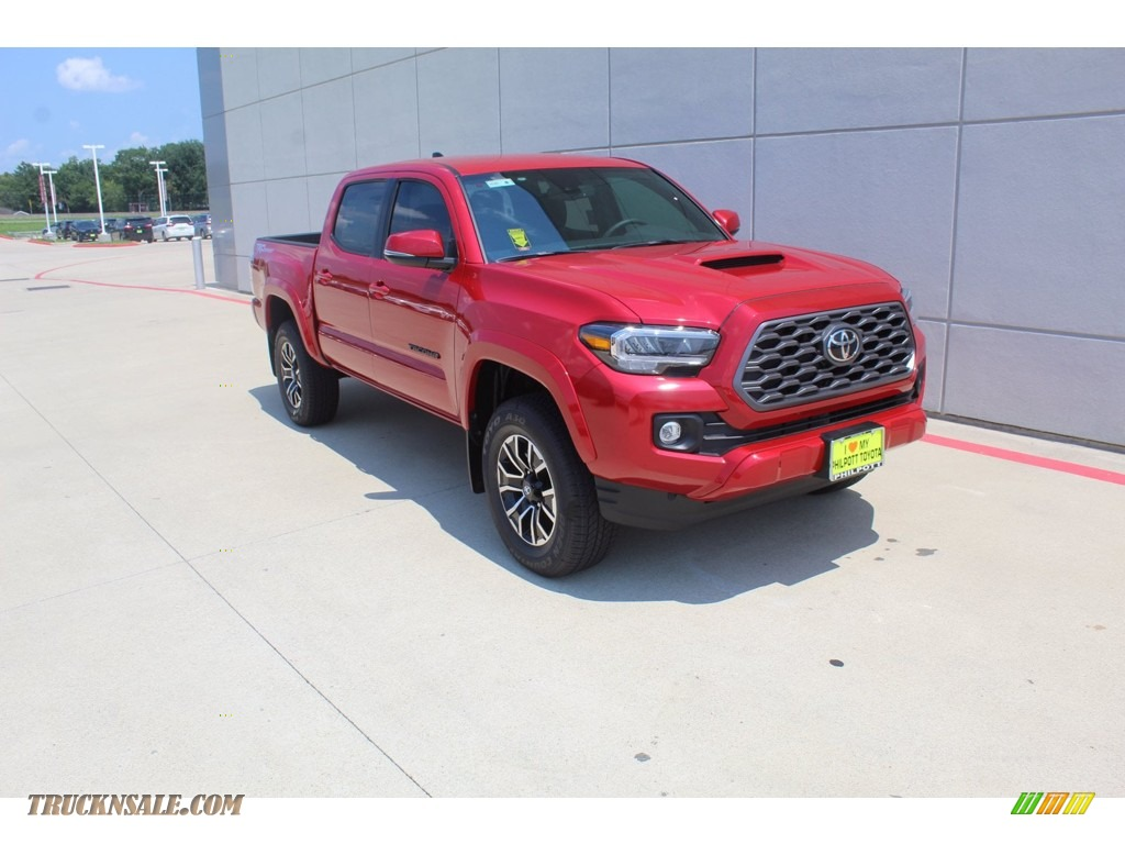 2020 Tacoma TRD Sport Double Cab 4x4 - Barcelona Red Metallic / TRD Cement/Black photo #2