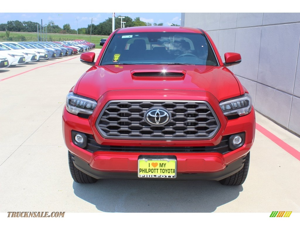 2020 Tacoma TRD Sport Double Cab 4x4 - Barcelona Red Metallic / TRD Cement/Black photo #3