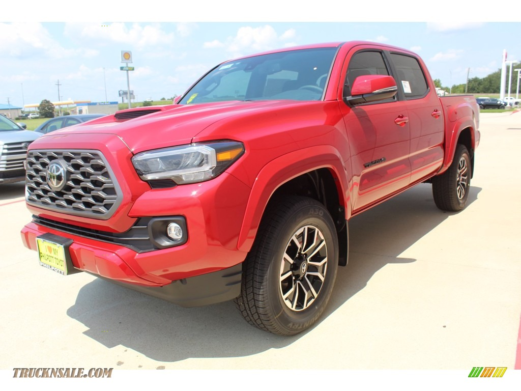 2020 Tacoma TRD Sport Double Cab 4x4 - Barcelona Red Metallic / TRD Cement/Black photo #4
