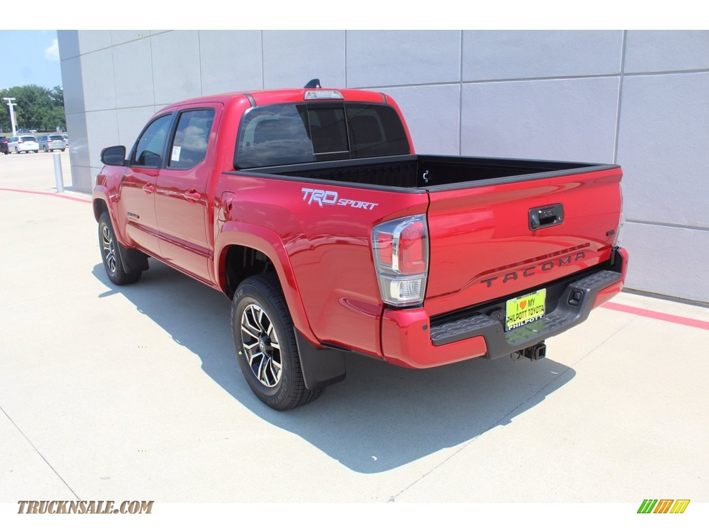 2020 Tacoma TRD Sport Double Cab 4x4 - Barcelona Red Metallic / TRD Cement/Black photo #6