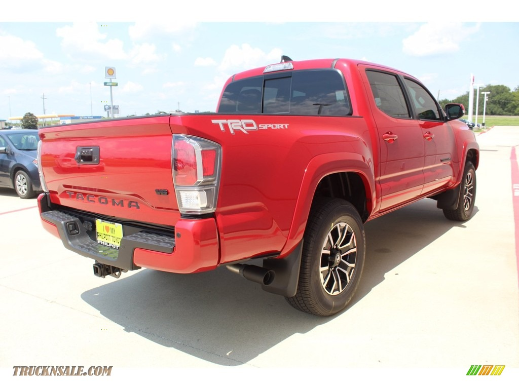 2020 Tacoma TRD Sport Double Cab 4x4 - Barcelona Red Metallic / TRD Cement/Black photo #8
