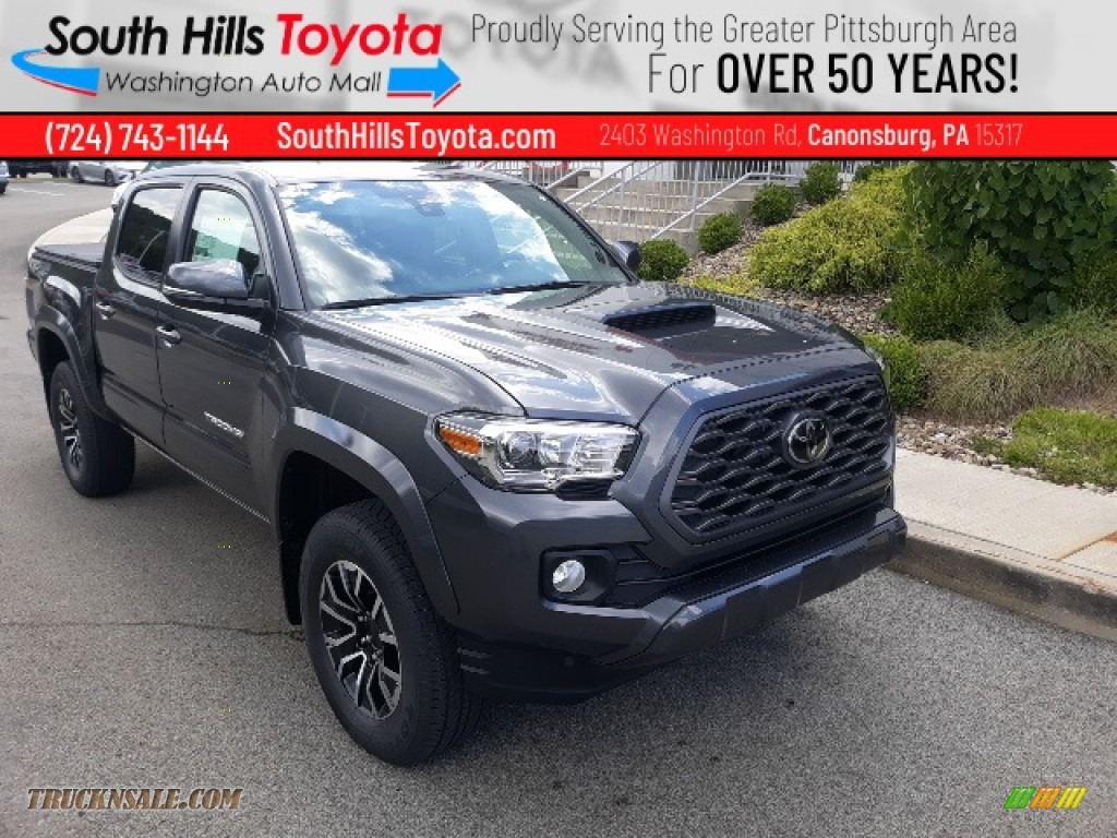 2020 Tacoma TRD Sport Double Cab 4x4 - Magnetic Gray Metallic / TRD Cement/Black photo #1