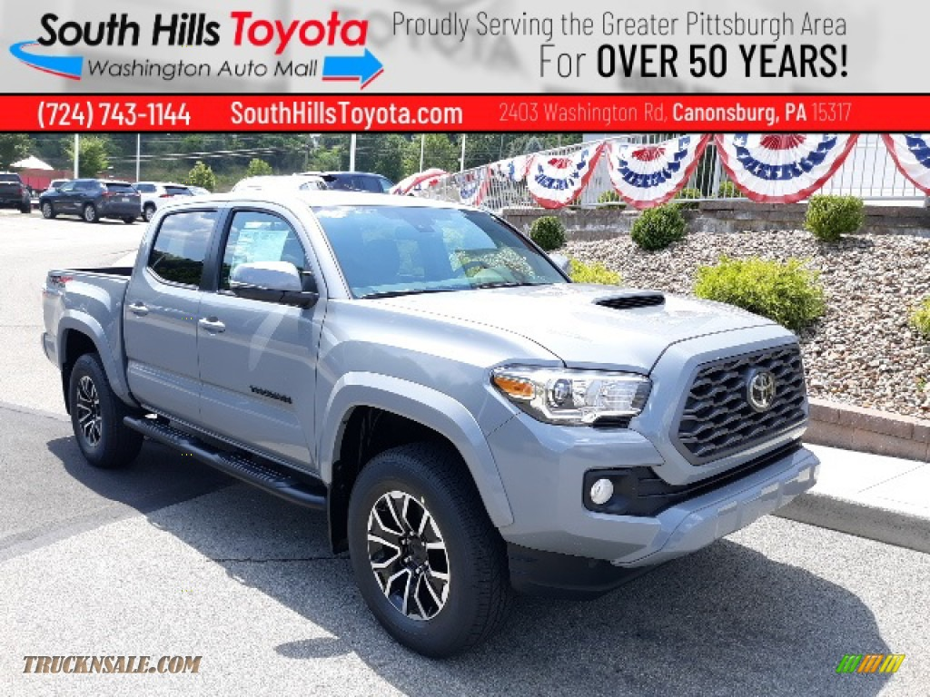 2020 Tacoma TRD Sport Double Cab 4x4 - Cement / TRD Cement/Black photo #1