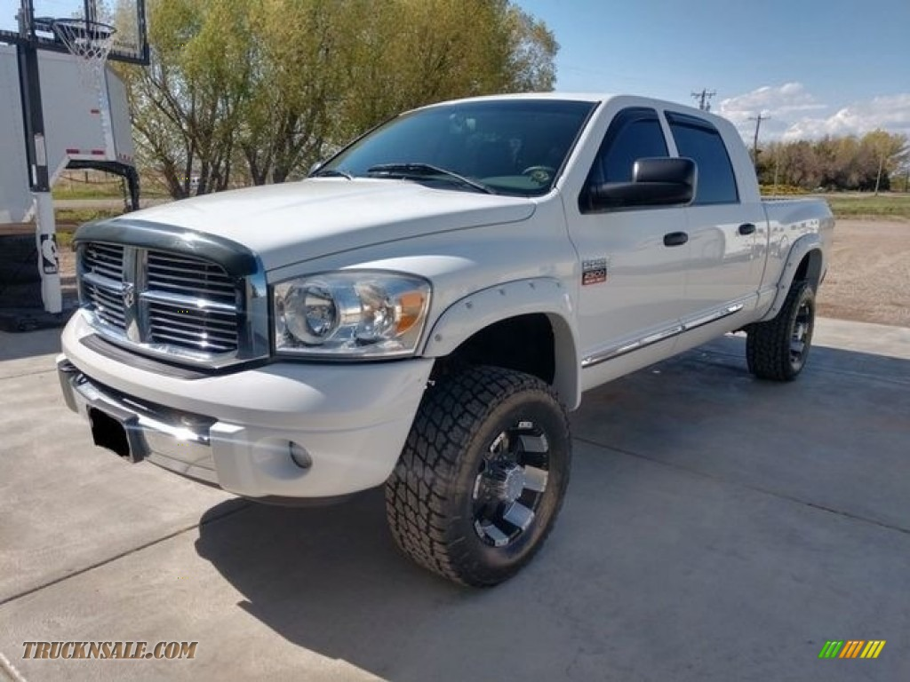 2008 Ram 2500 Laramie Mega Cab 4x4 - Bright White / Medium Slate Gray photo #1