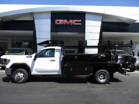Summit White 2020 GMC Sierra 3500HD Regular Cab 4WD Chassis Utility Truck