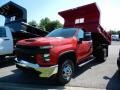 Chevrolet Silverado 3500HD Work Truck Regular Cab 4x4 Dump Truck Red Hot photo #1