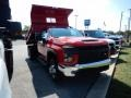 Chevrolet Silverado 3500HD Work Truck Regular Cab 4x4 Dump Truck Red Hot photo #3