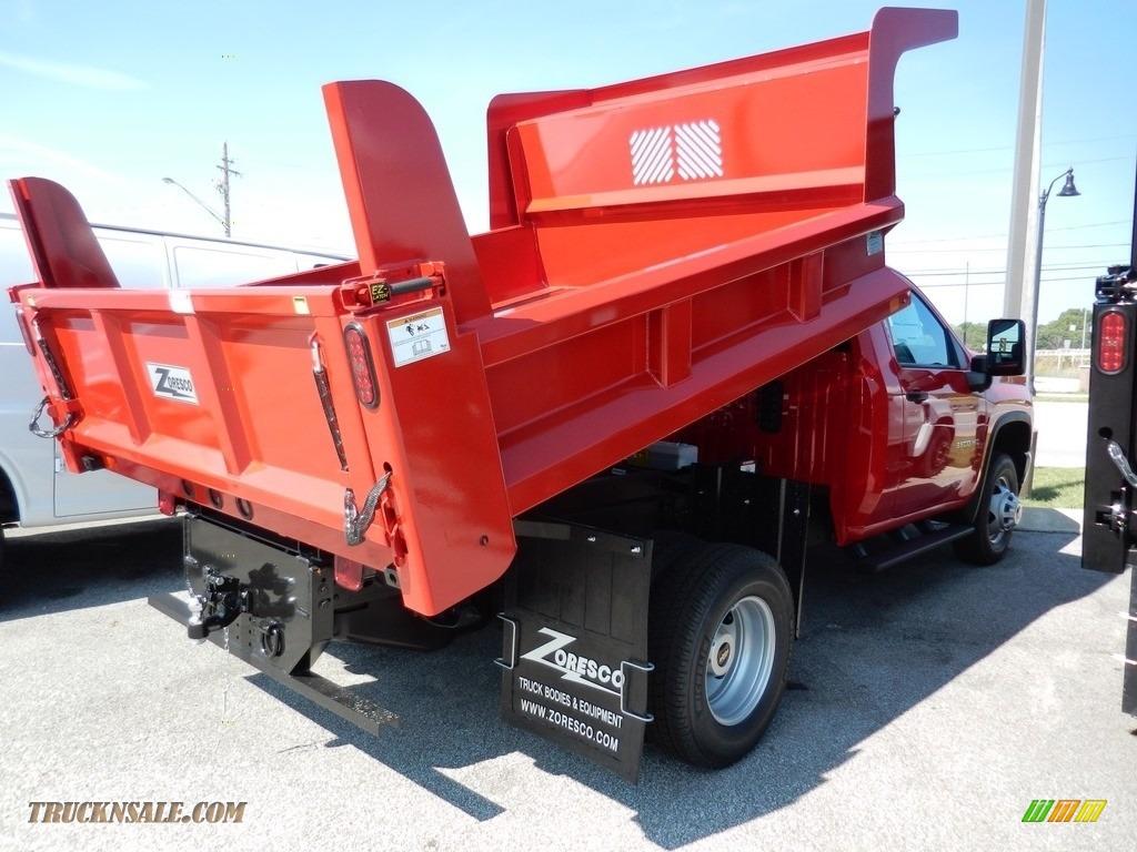 2020 Silverado 3500HD Work Truck Regular Cab 4x4 Dump Truck - Red Hot / Jet Black photo #4