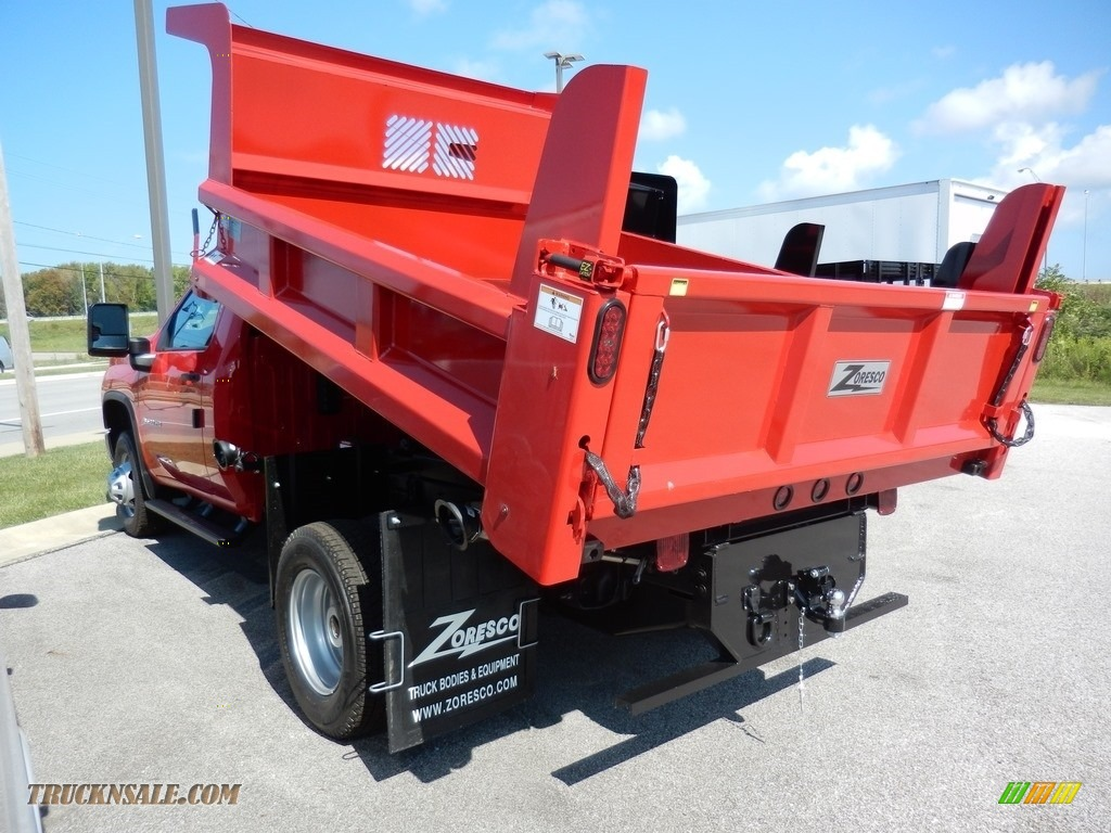 2020 Silverado 3500HD Work Truck Regular Cab 4x4 Dump Truck - Red Hot / Jet Black photo #5