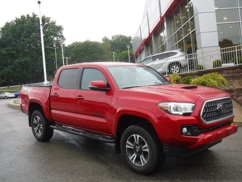 Barcelona Red Metallic 2019 Toyota Tacoma TRD Sport Double Cab 4x4