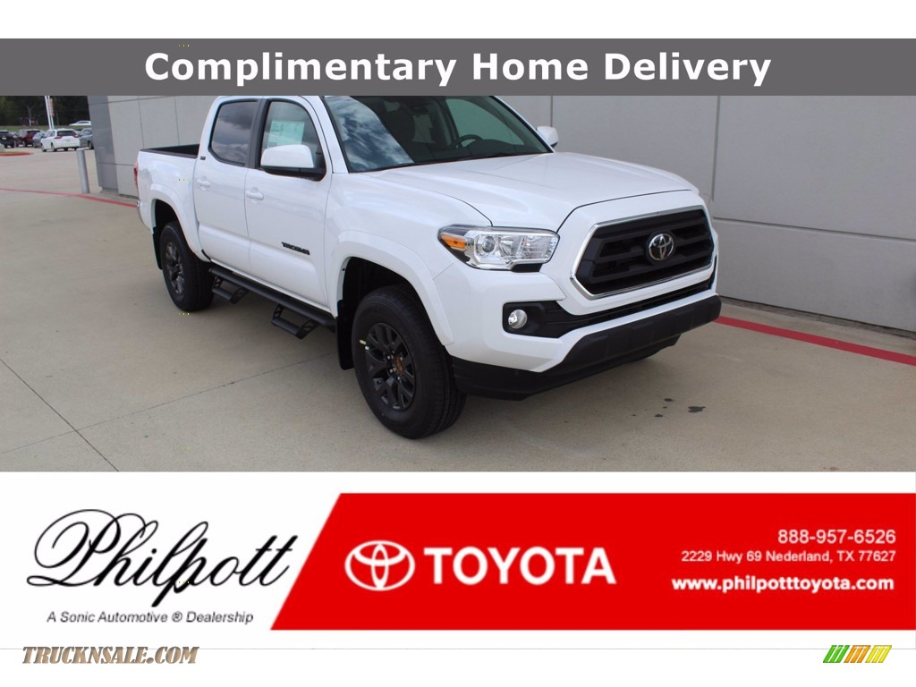 2020 Tacoma SR5 Double Cab - Super White / Cement photo #1