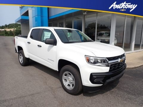 Summit White 2021 Chevrolet Colorado WT Crew Cab 4x4