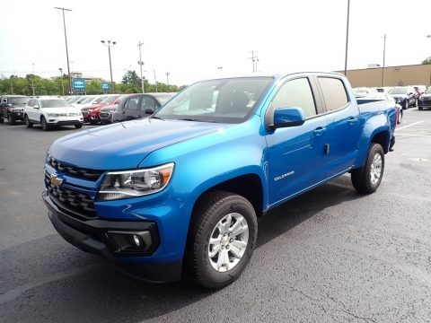Bright Blue Metallic 2021 Chevrolet Colorado LT Crew Cab 4x4