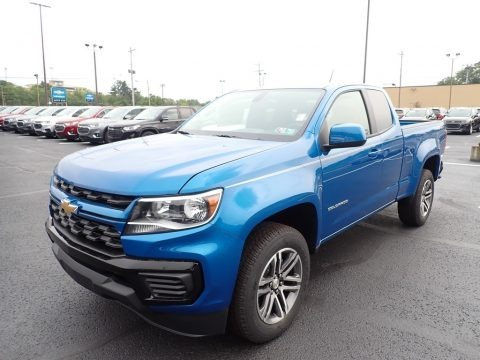 Bright Blue Metallic 2021 Chevrolet Colorado WT Extended Cab 4x4