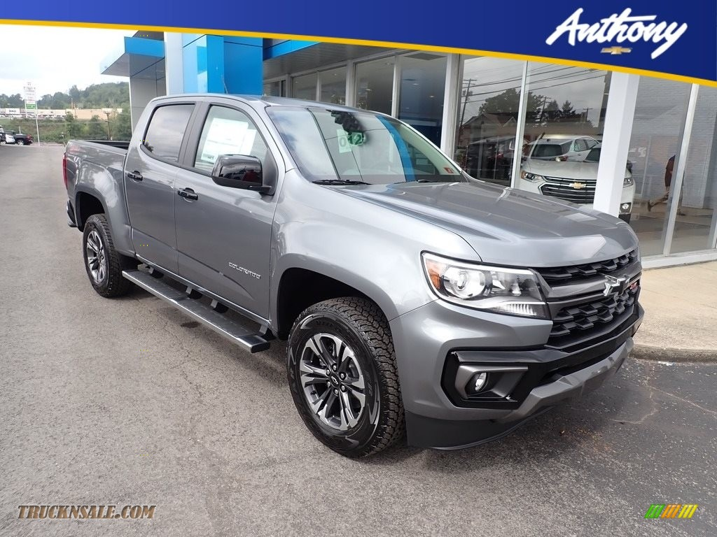 Satin Steel Metallic / Jet Black/­Dark Ash Chevrolet Colorado Z71 Crew Cab 4x4