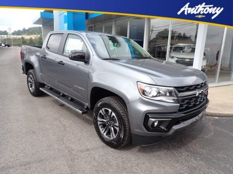 Satin Steel Metallic 2021 Chevrolet Colorado Z71 Crew Cab 4x4