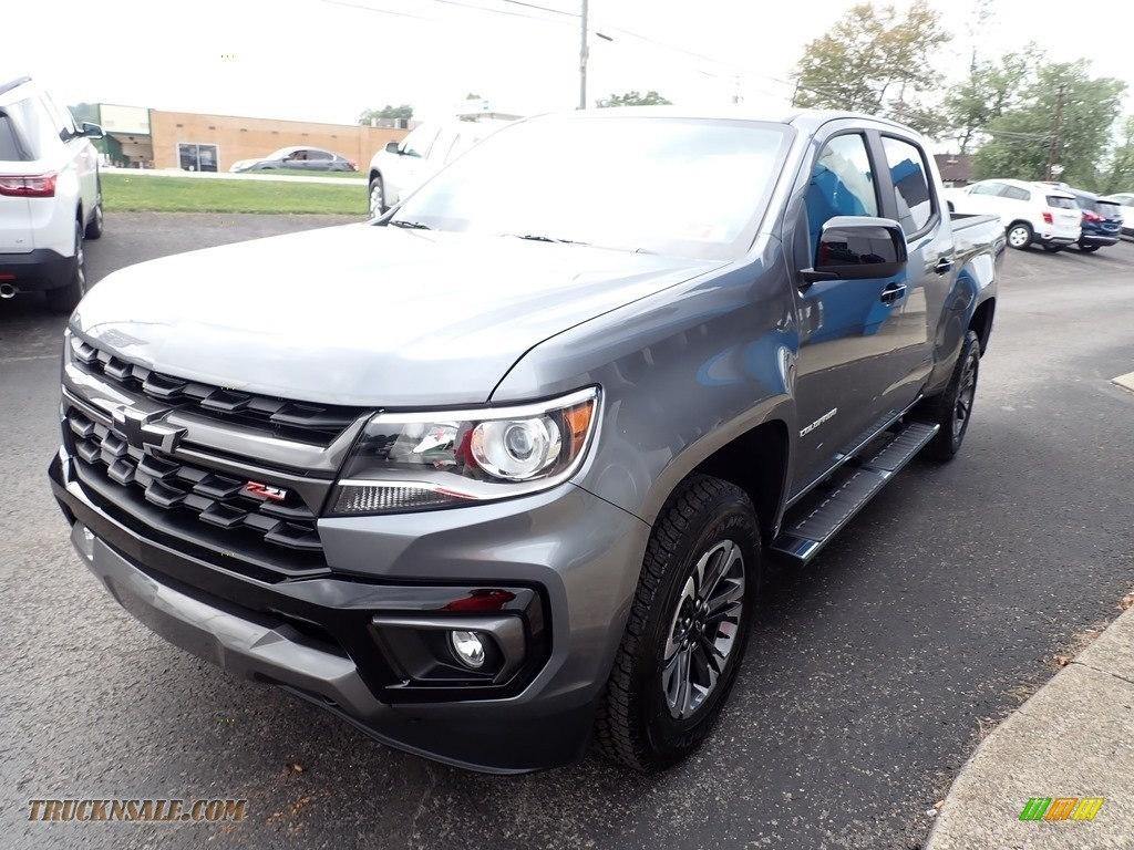 2021 Colorado Z71 Crew Cab 4x4 - Satin Steel Metallic / Jet Black/­Dark Ash photo #7