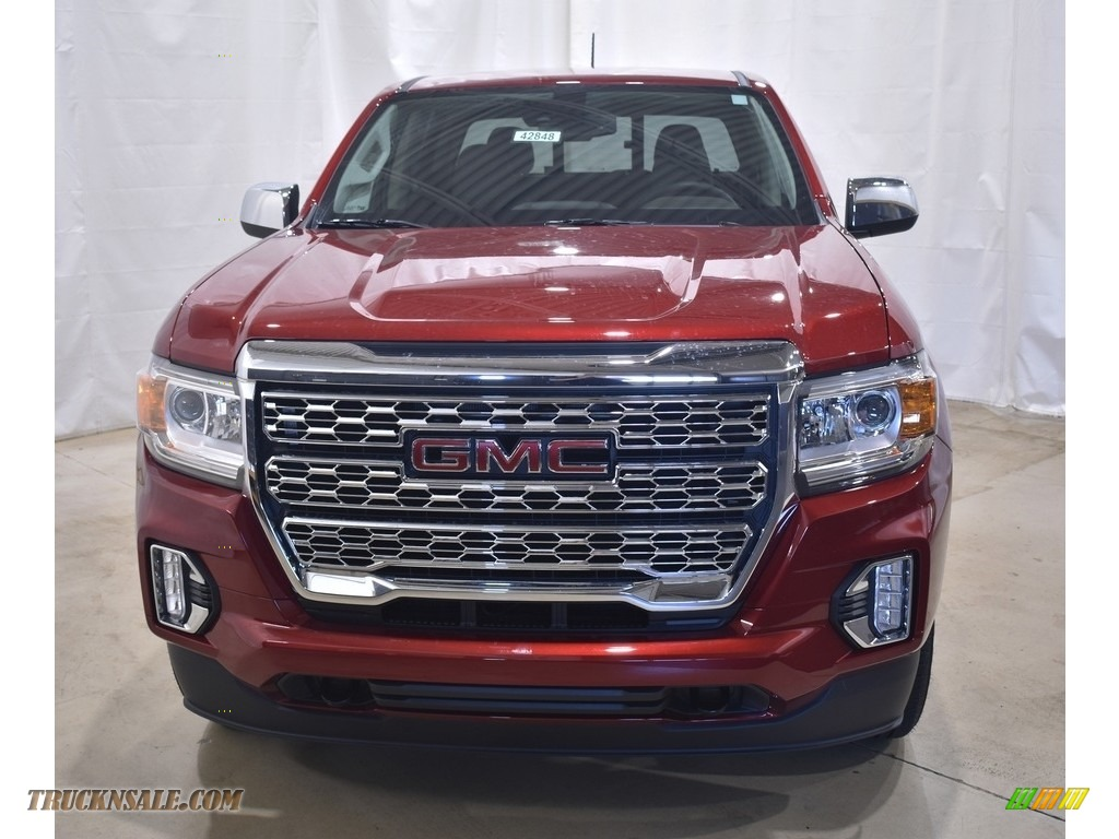 2021 Canyon Denali Crew Cab 4WD - Cayenne Red Tintcoat / Cocoa/Dark Atmosphere photo #4