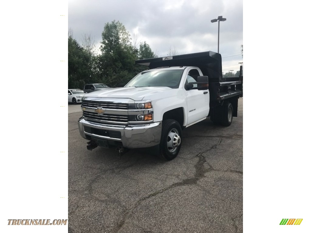 2015 Silverado 3500HD WT Regular Cab 4x4 Dump Truck - Summit White / Jet Black/Dark Ash photo #1