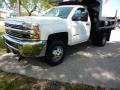 Chevrolet Silverado 3500HD WT Regular Cab 4x4 Dump Truck Summit White photo #3