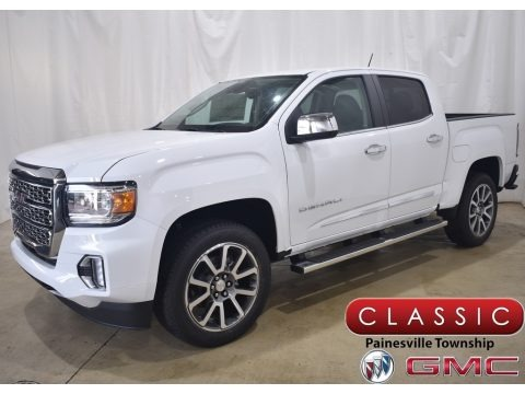 Summit White 2021 GMC Canyon Denali Crew Cab 4WD