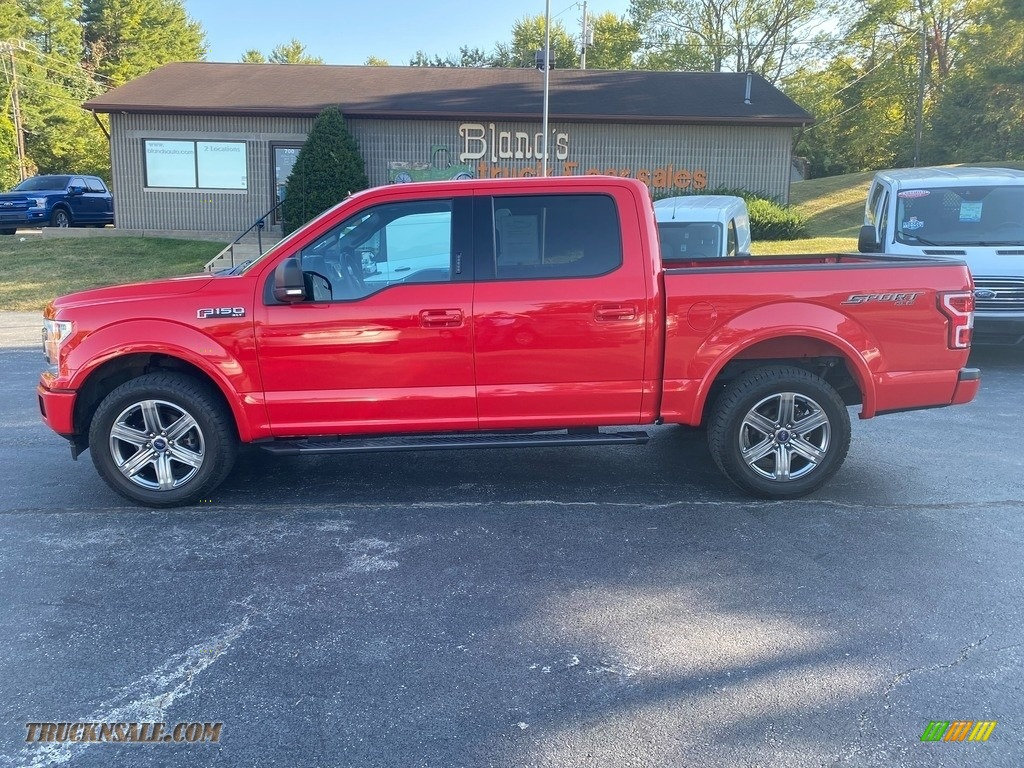 Race Red / Black Ford F150 XLT SuperCrew 4x4