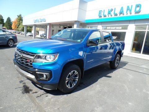 Bright Blue Metallic 2021 Chevrolet Colorado Z71 Crew Cab 4x4