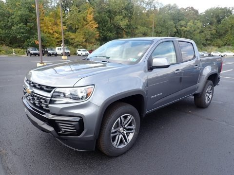 Satin Steel Metallic 2021 Chevrolet Colorado WT Crew Cab 4x4