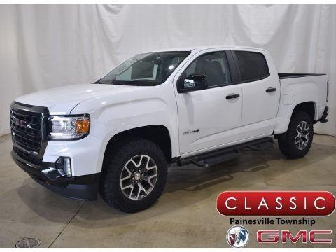 Summit White 2021 GMC Canyon AT4 Crew Cab 4WD