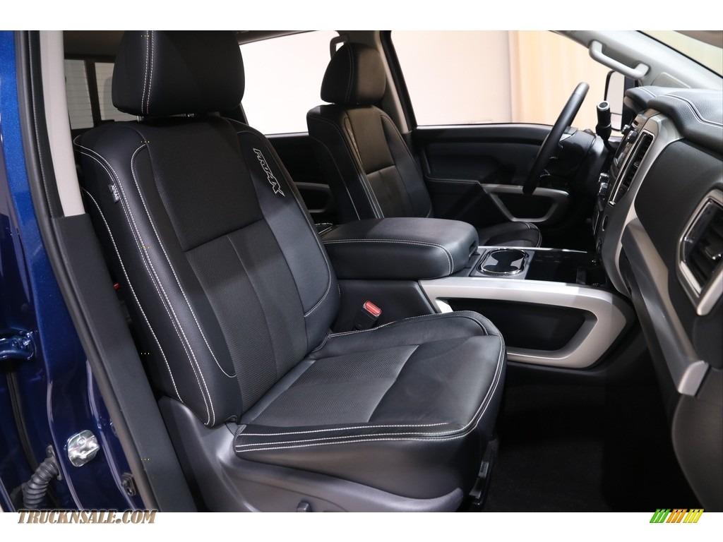 2019 Titan PRO 4X Crew Cab 4x4 - Deep Blue Pearl Metallic / Black photo #15