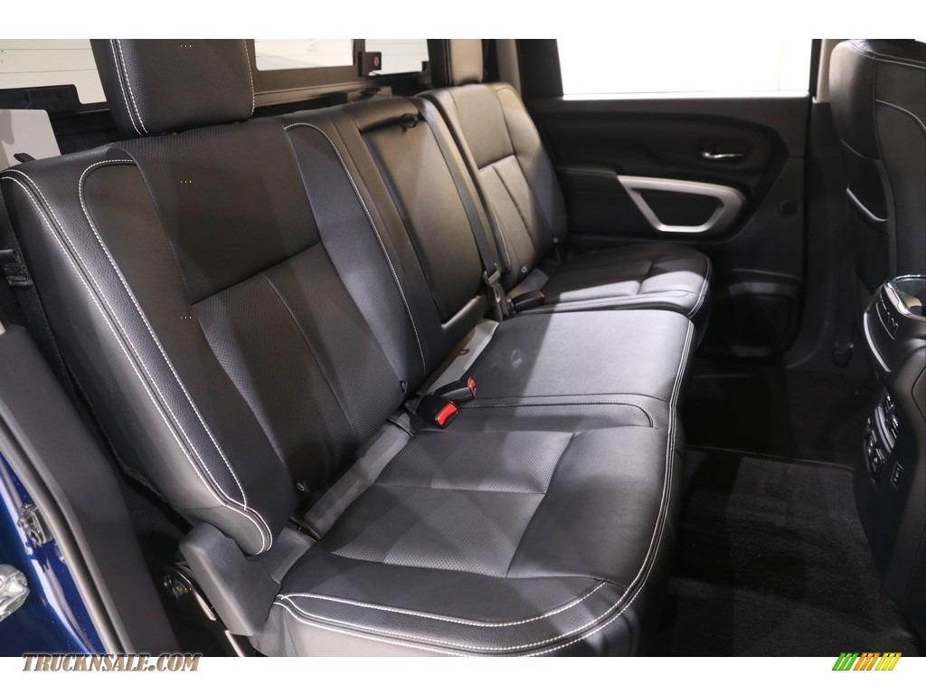 2019 Titan PRO 4X Crew Cab 4x4 - Deep Blue Pearl Metallic / Black photo #16