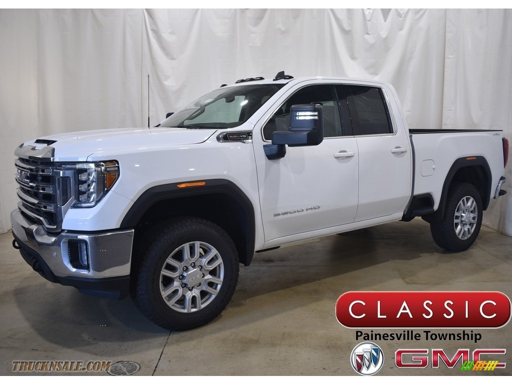 2020 Sierra 2500HD SLE Double Cab 4WD - Summit White / Jet Black photo #1