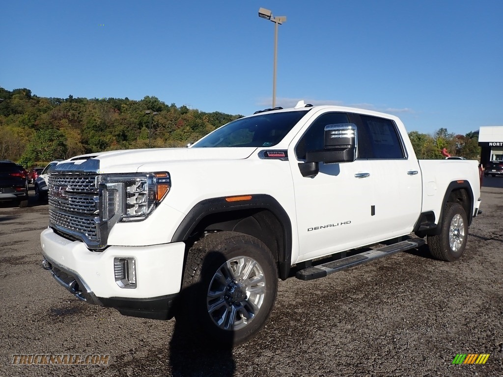 2020 Sierra 2500HD Denali Crew Cab 4WD - Summit White / Jet Black photo #1