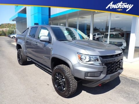 Satin Steel Metallic 2021 Chevrolet Colorado ZR2 Crew Cab 4x4