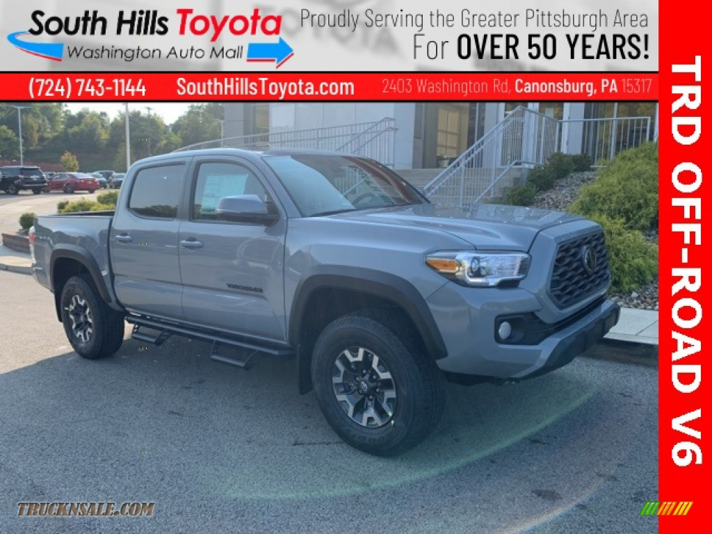 2021 Tacoma TRD Off Road Double Cab 4x4 - Lunar Rock / TRD Cement/Black photo #1
