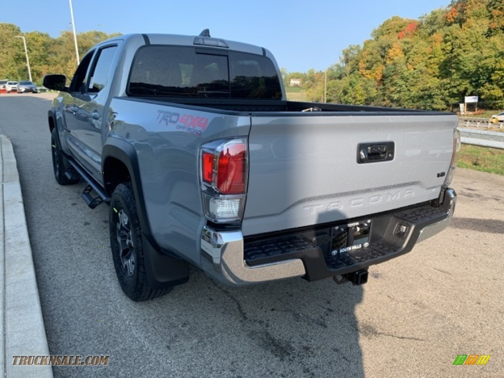 2021 Tacoma TRD Off Road Double Cab 4x4 - Lunar Rock / TRD Cement/Black photo #2