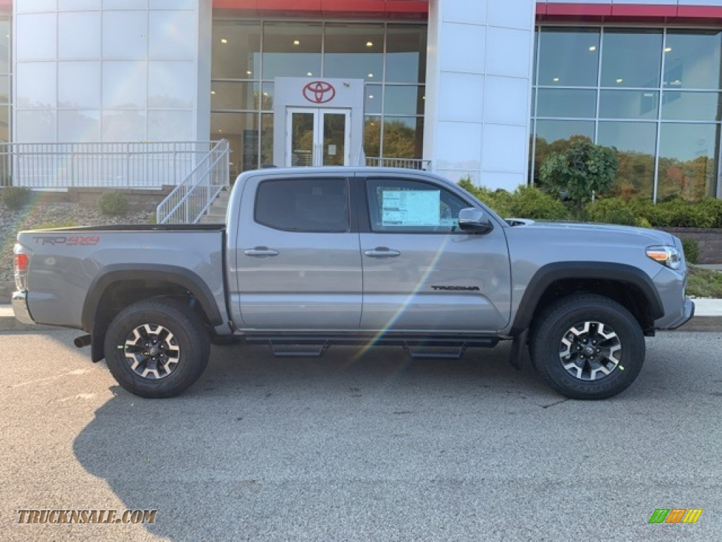 2021 Tacoma TRD Off Road Double Cab 4x4 - Lunar Rock / TRD Cement/Black photo #31