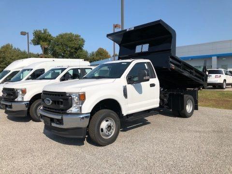 Oxford White 2020 Ford F350 Super Duty XL Regular Cab 4x4 Chassis Dump Truck