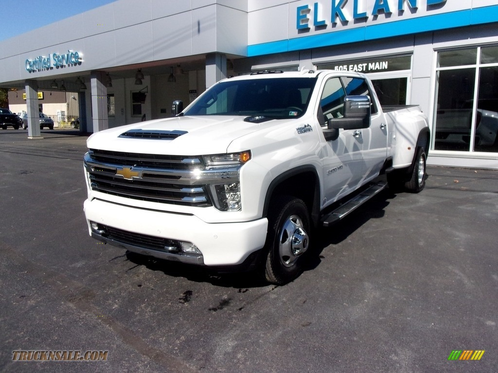 2020 Silverado 3500HD High Country Crew Cab 4x4 - Iridescent Pearl Tricoat / Jet Black photo #1